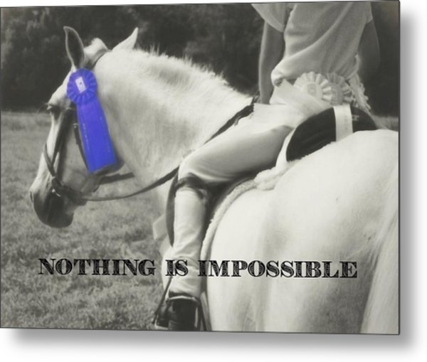 First Show Quote Metal Print by JAMART Photography