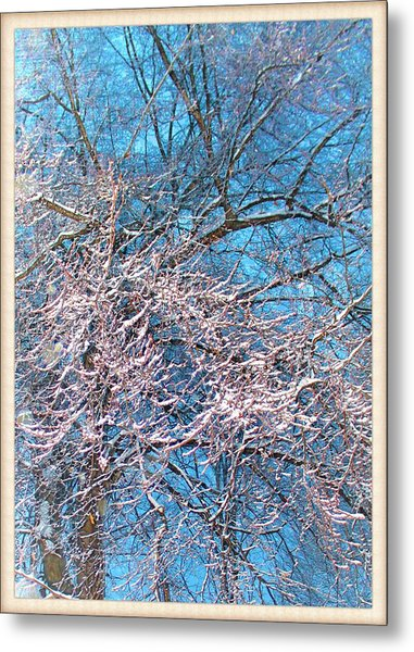 First Snow At Dawn Metal Print