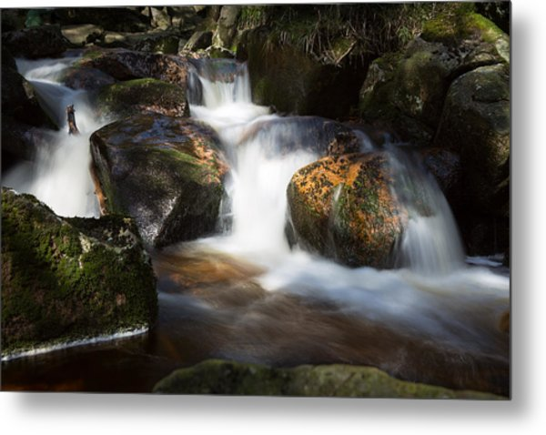 first spring sunlight on the Warme Bode, Harz Metal Print
