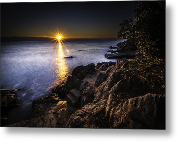First Rays Over The Adriatic Metal Print