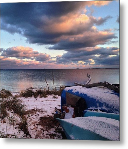 #firstsnow #provincetown Metal Print by Ben Berry
