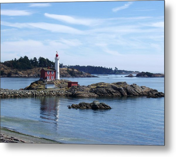 Fisgard Lighthouse Shoreline Metal Print