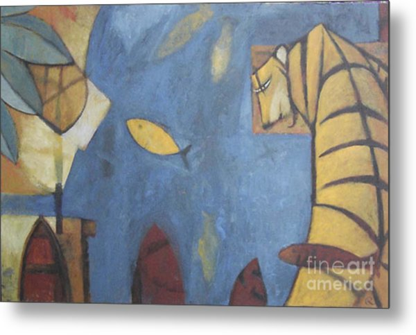Fish And Tiger Metal Print