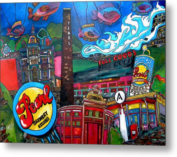 F.i.s.h. At Pearl Brewery Metal Print by Patti Schermerhorn