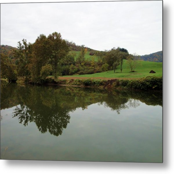 Fish Creek Reflection Metal Print by Terry  Wiley