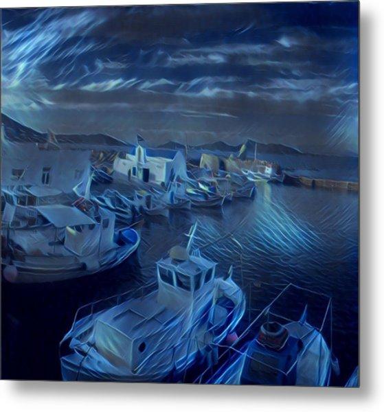 Fish Harbour Paros Island Greece Metal Print