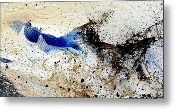 Fish In Rapids Metal Print