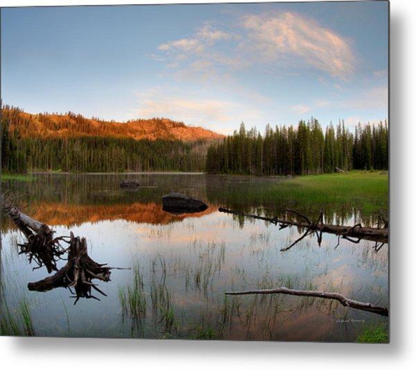 Fish Lake Sunrise Metal Print by Leland D Howard