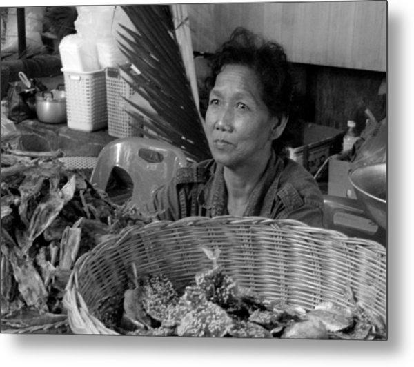 Fish Vendor Metal Print
