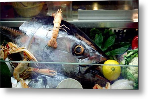 Fish With Lemon In Venice Metal Print by Michael Henderson