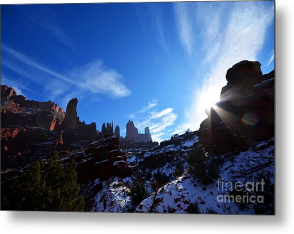 Metal Print featuring the photograph Fisher Towers by Kate Avery