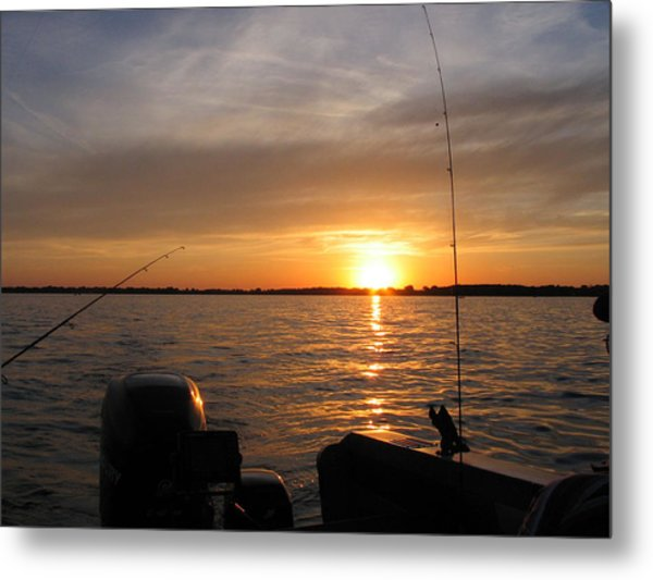 Fishermans Sunset Metal Print by Jack G  Brauer