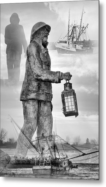 Fishermen - Jersey Shore Metal Print