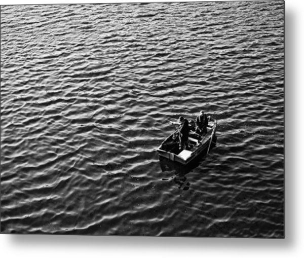 Metal Print featuring the photograph Fishing by Adrian Pym