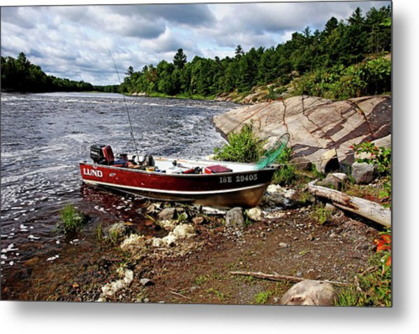 Fishing And Exploring Metal Print