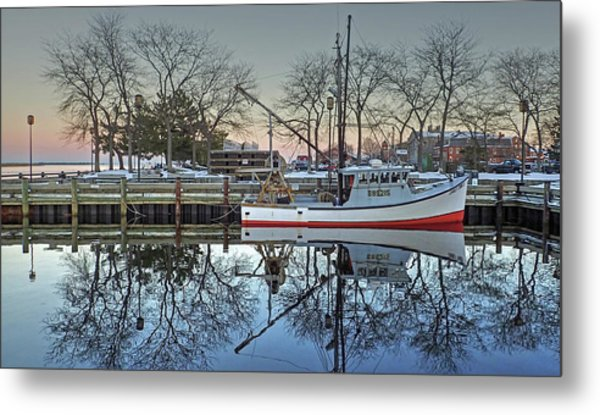 Fishing Boat At Newburyport Metal Print