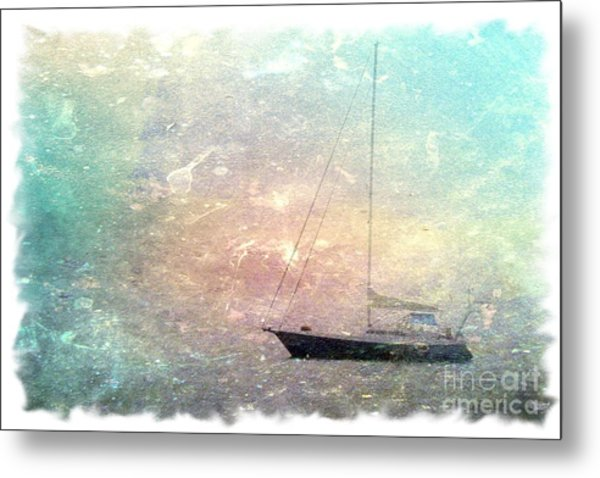 Fishing Boat In The Morning Metal Print