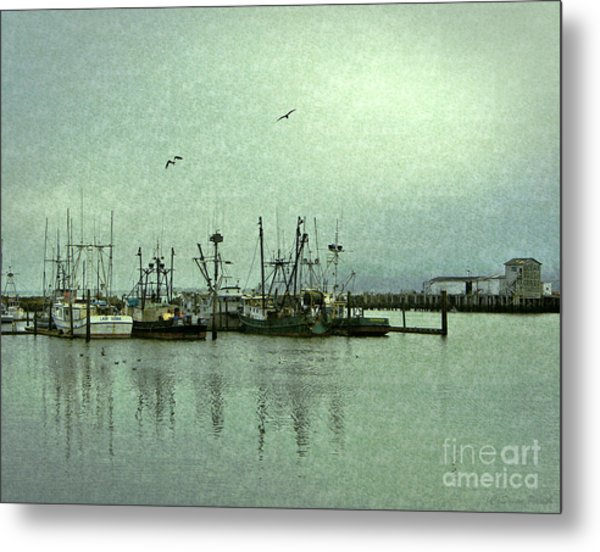 Metal Print featuring the photograph Fishing Boats Columbia River by Susan Parish