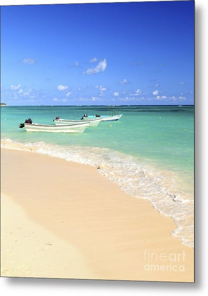 Fishing Boats In Caribbean Sea Metal Print
