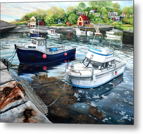 Fishing Boats In Lanes Cove Gloucester Ma Metal Print