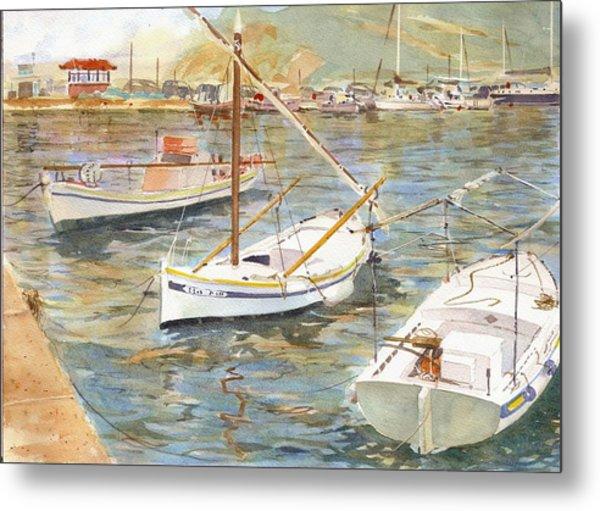 Fishing Boats In Skopelos Metal Print