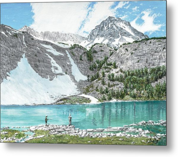 Fishing Gem Lake Metal Print