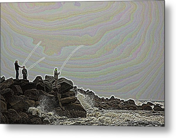 Fishing In The Twilight Zone Metal Print