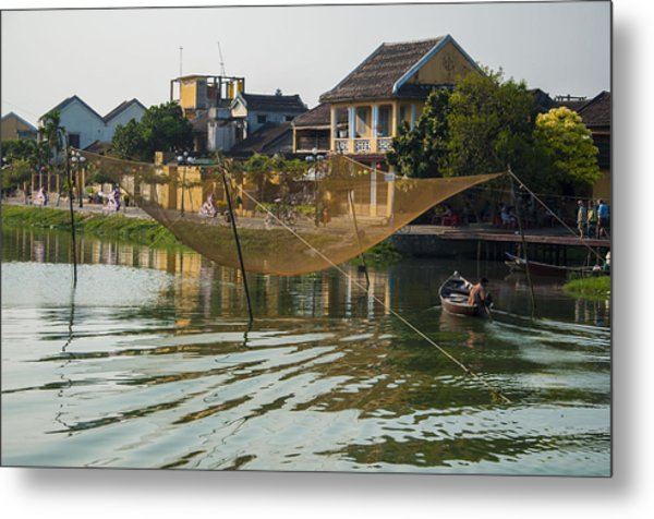 Fishing Net In Vietnam Metal Print