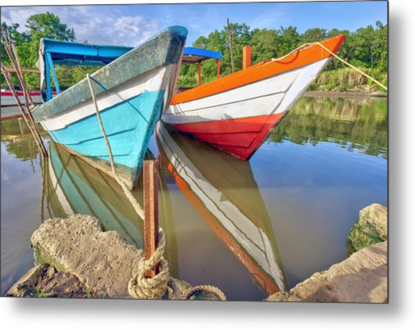 Fishing Pirogues  Metal Print