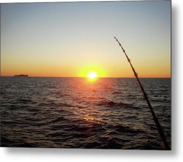 Fishing Pole Taken On 35mm Film Metal Print
