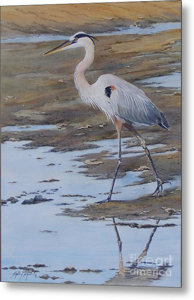 Fishing The Mud Flats...sold  Metal Print