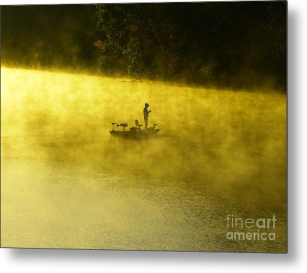 Fishing The Prettyboy Reservoir Metal Print