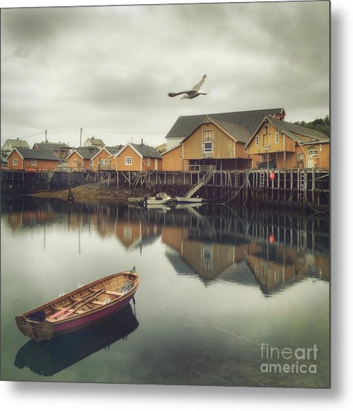 Fishing Village Metal Print by Mariko Klug