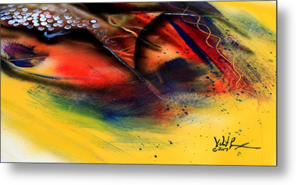 Fishtail Abstract Metal Print