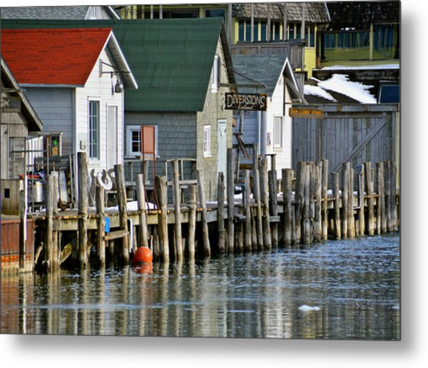 Fishtown In Leland Metal Print