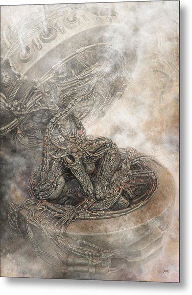 Metal Print featuring the digital art Fit Into The System by Uwe Jarling