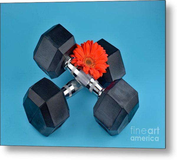 Fitness By Daisy Metal Print