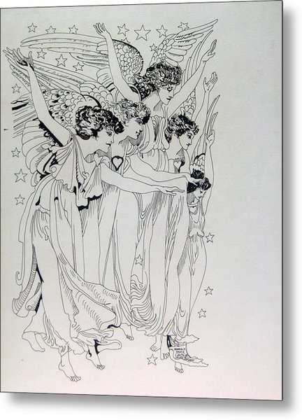 Five Angels Metal Print by Gabe Art Inc