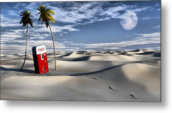 Five Cent Oasis Metal Print
