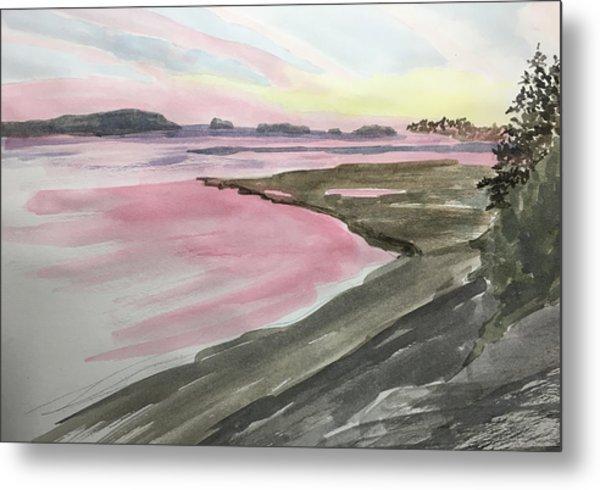 Five Islands - Watercolor Sketch  Metal Print