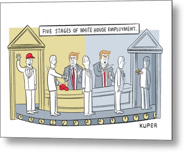 Five Stages Of White House Employment Metal Print