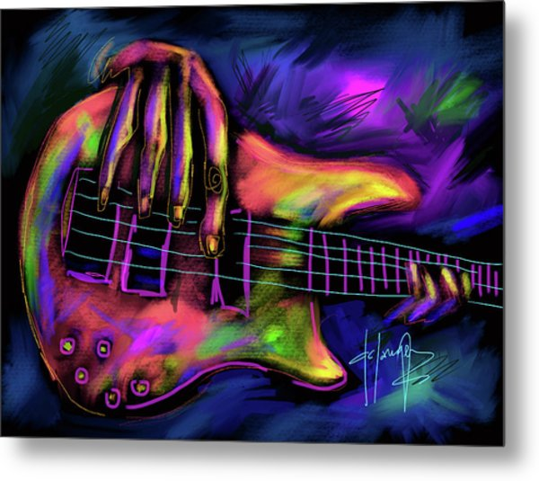 Five String Bass Metal Print