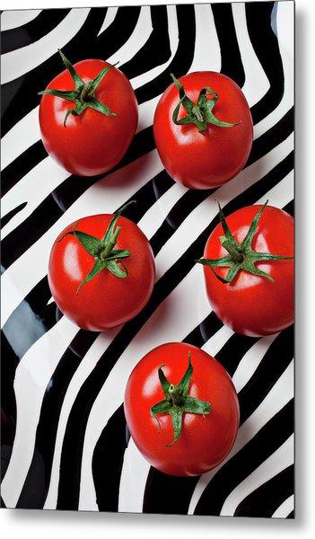 Five Tomatoes  Metal Print