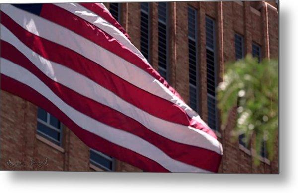 Flag Courtship Metal Print