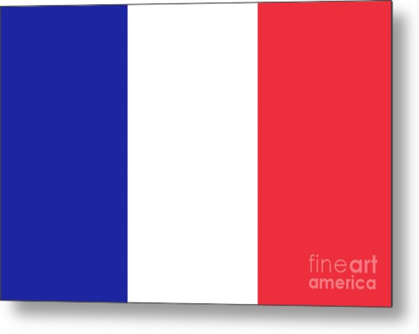 Flag Of France High Quality Authentic Image Metal Print