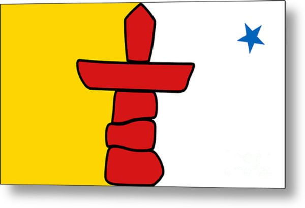 Flag Of Nunavut High Quality Authentic Hd Version Metal Print