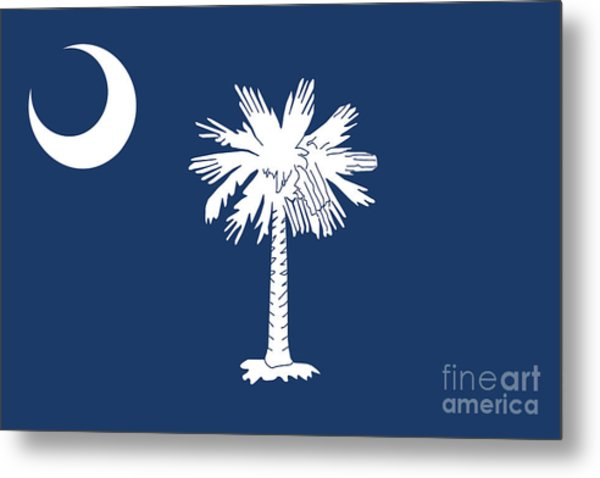 Flag Of South Carolina Authentic Version Metal Print