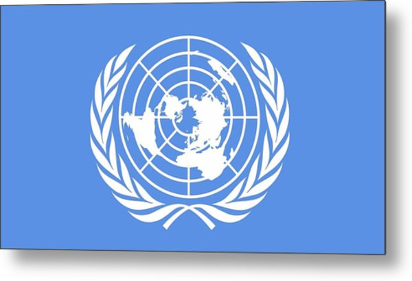 Flag Of The United Nations Metal Print
