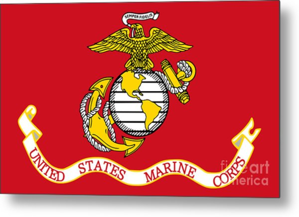 Flag Of The United States Marine Corps Metal Print