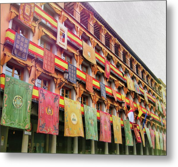 Spanish Flags Metal Print by JAMART Photography